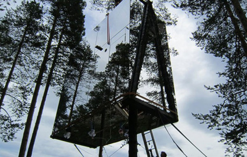 Tree House Design Ideas from Nature in Sweden Harad | Athome201.